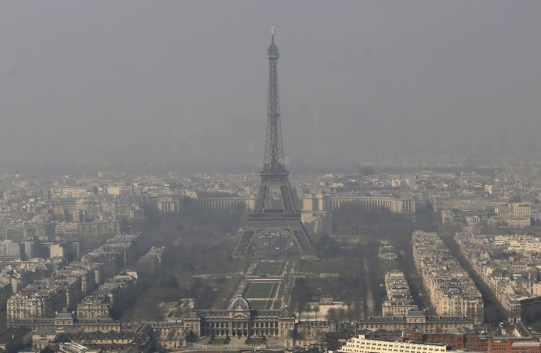 Luchtvervuiling in Parijs.