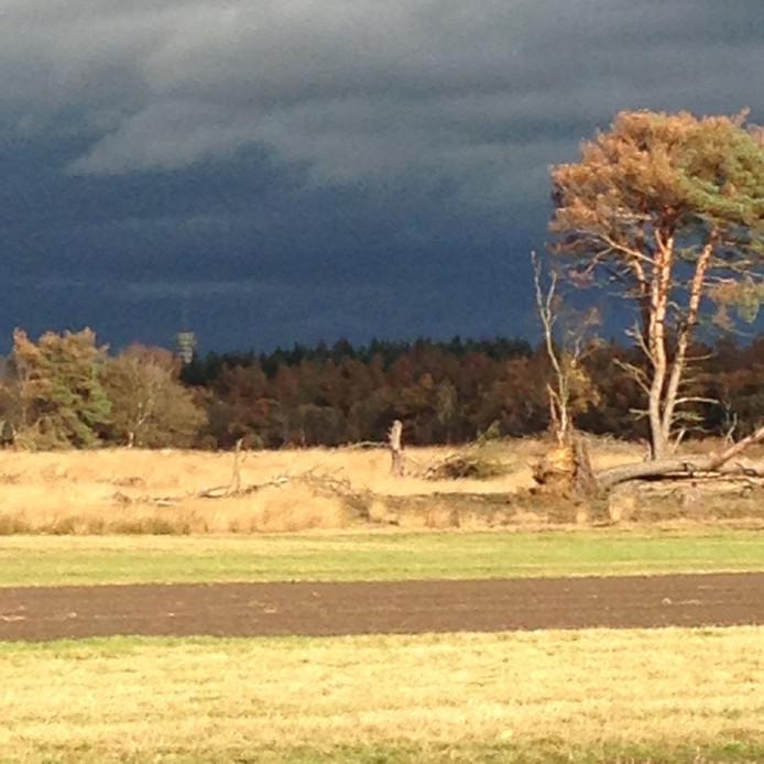 Storm opkomst boven Mierlo. Strabrechtse heide .