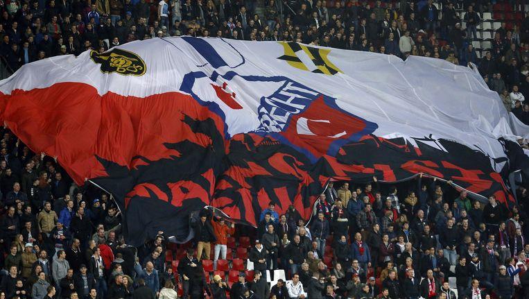 De Bunnikside van FC Utrecht, waar de spreekkoren tegen Ajax vandaan kwamen Beeld Menno Ringnalda/ Pro Shots