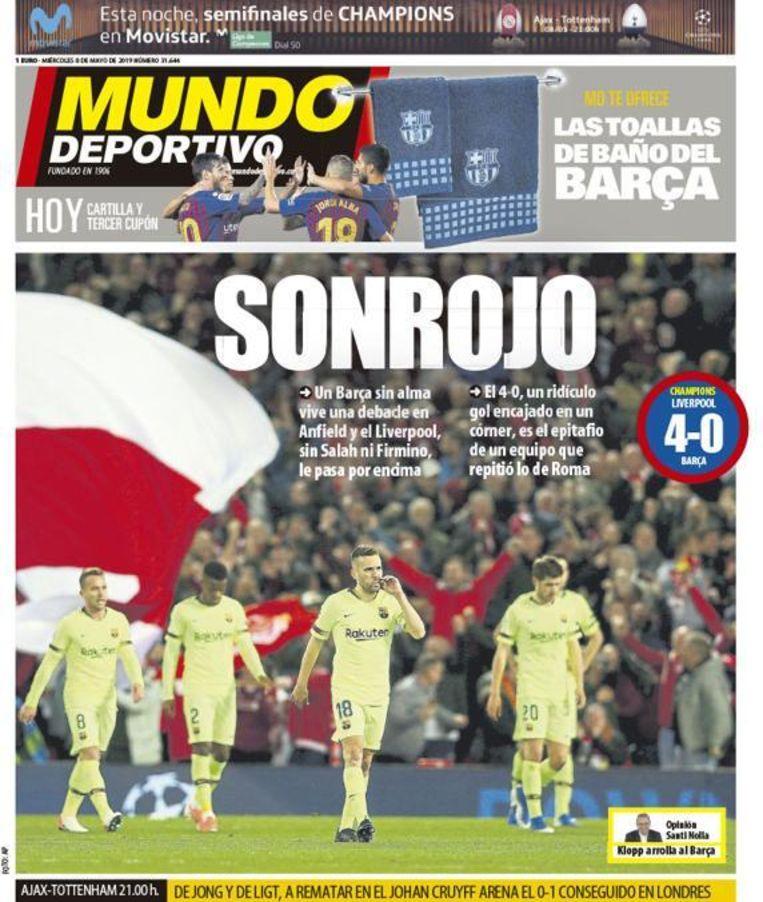 Omslag El Mundo Deportivo Beeld Twitter