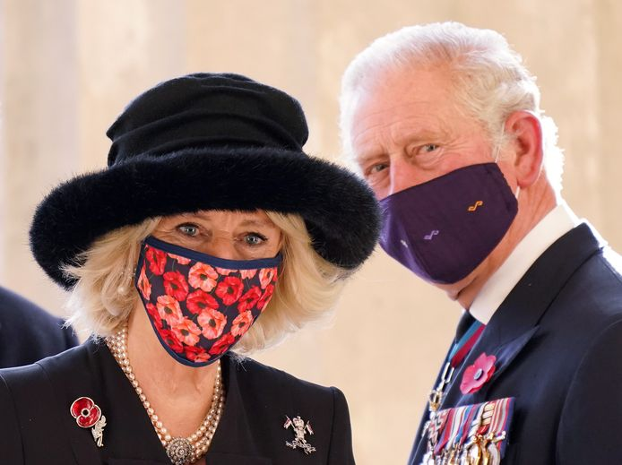 Camilla (links) en Charles.