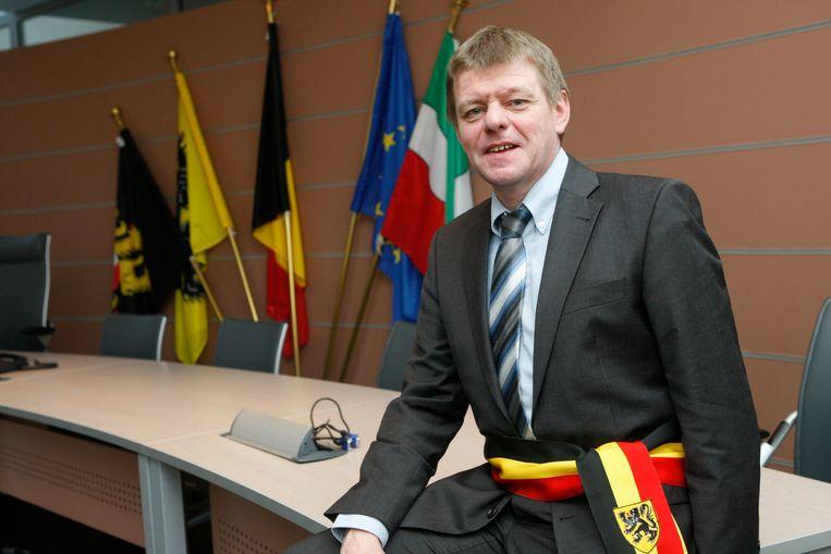 Benny Munten toen hij burgemeester was.