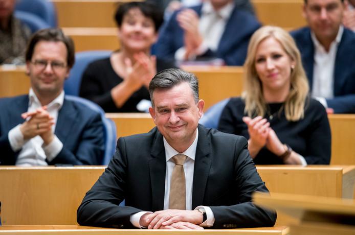SP'er Emile Roemer bij zijn afscheid als Tweede Kamerlid in januari van dit jaar.