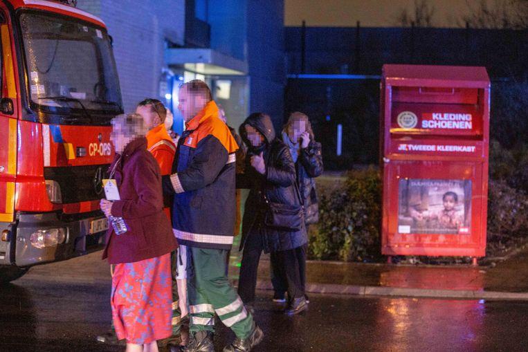 In totaal werden 34 bewoners van de serviceflats geëvacueerd.