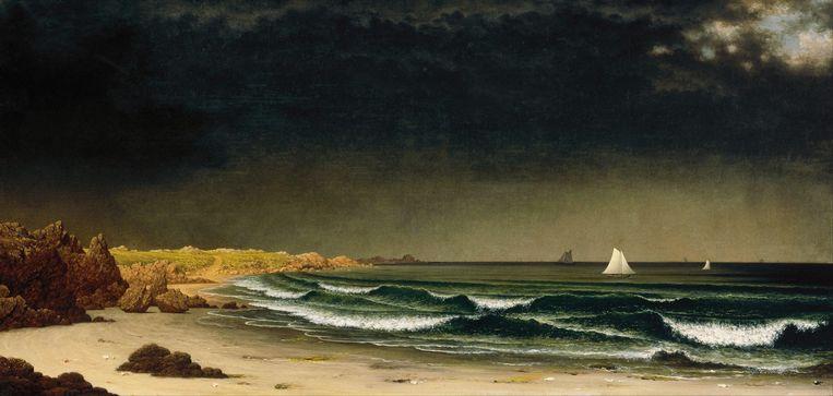 Martin Johnson Heade: Approaching Storm – Beach Near Newport. Beeld  Museum of Fine Arts Boston / Alamy