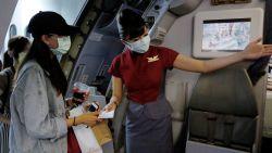 Luchthaven Taiwan nodigt mensen uit om in vliegtuig te komen zitten