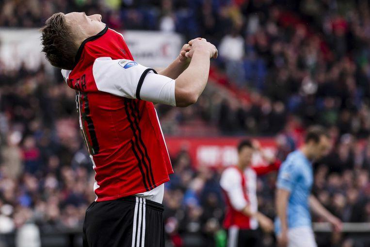 Feyenoorder Jens Toornstra in het duel dat Feyenoord zondag met 2-0 won van FC Utrecht. Beeld ANP Pro Shots