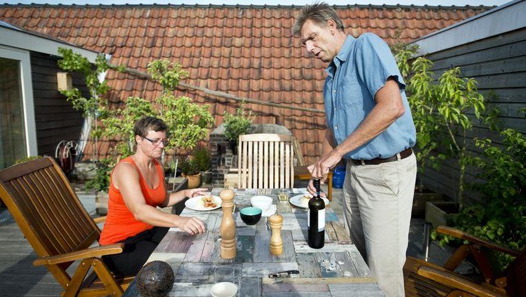 Mieke heeft een eigen restaurant, maar gaat thuis gewoon verder met koken. Beeld Maarten Steenvoort