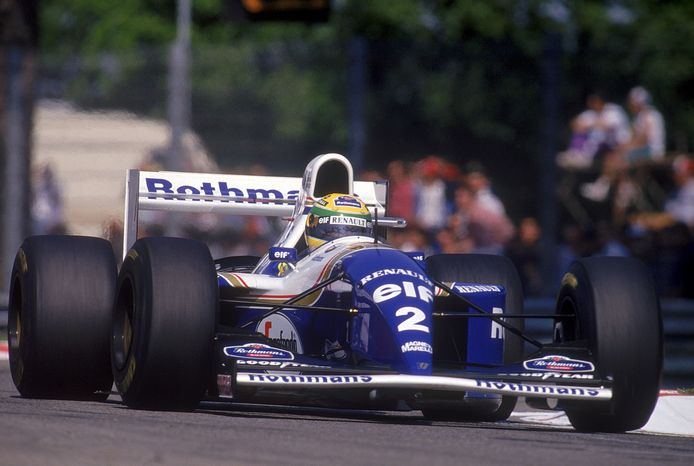 Ayrton Senna in de Williams in 1994
