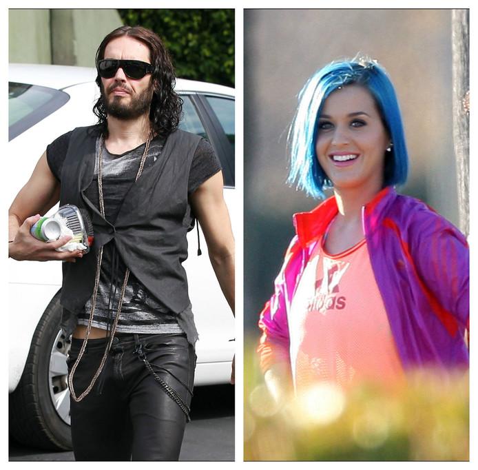 Russell Brand en Katy Perry.