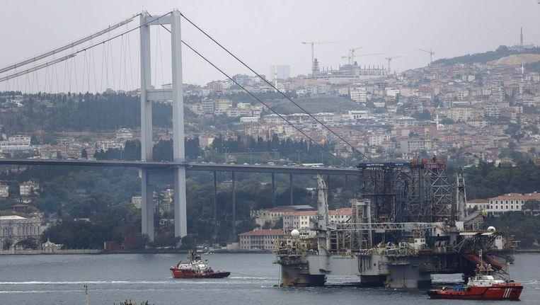 Beeld van de Bosporus en de miljoenenstad Istanbul. Beeld reuters
