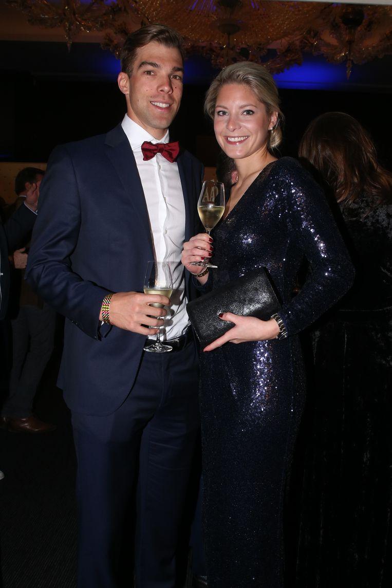 Jens Debusschere met Kelly Roelandts .