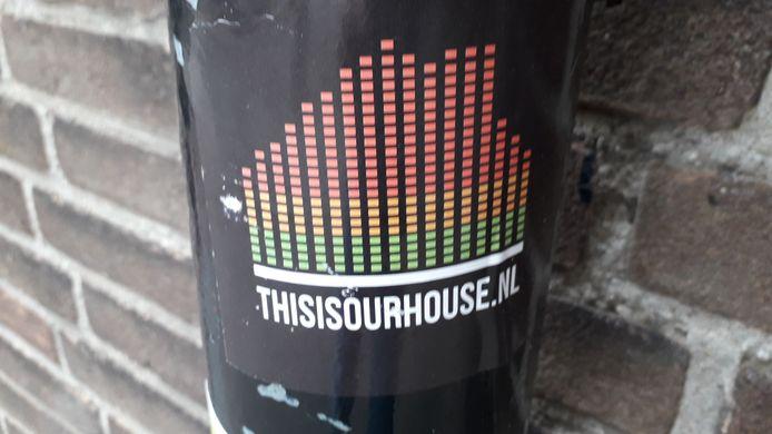Sticker Tilburg Spoorzone