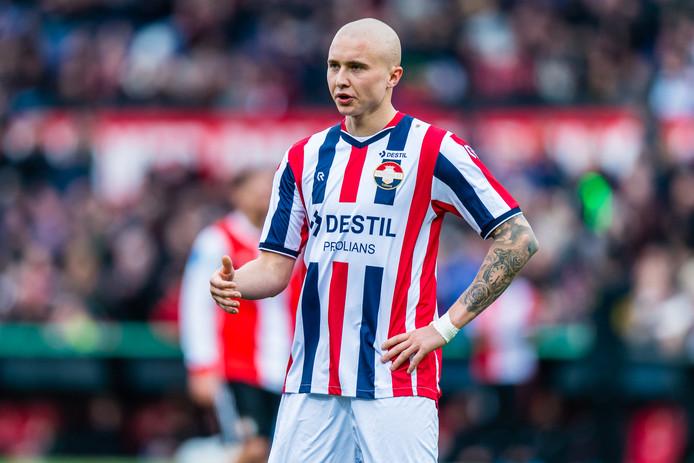 Sebastian Holmén beleeft een  uitstekend seizoen bij Willem II.