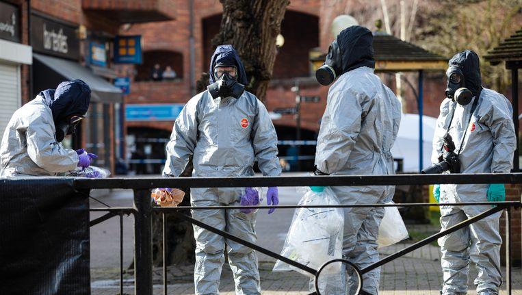 Onderzoek rondom de plek van de vergiftiging van dubbelagent Skripal Beeld getty