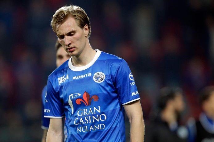 Vincent Vermeij is teleurgesteld na de nipte nederlaag van Den Bosch in Enschede.