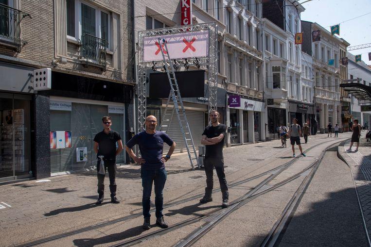 City Sounds Rent bouwt portieken in de grote winkelstraten in Gent.