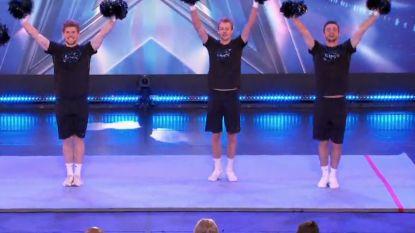 Mannelijke cheerleaders verbazen jury Belgium's Got Talent