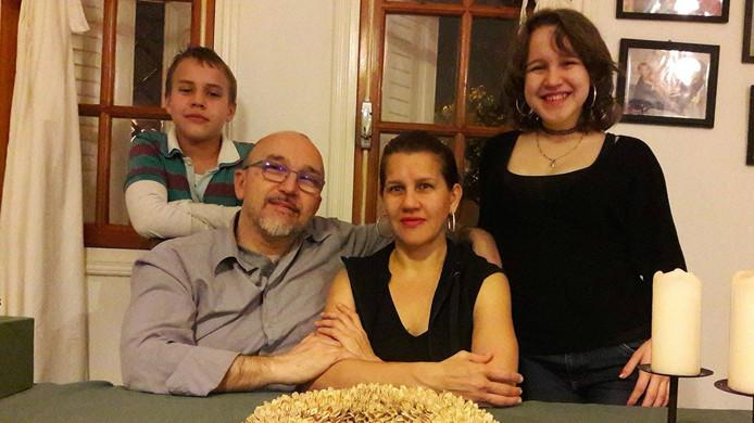 Dave Timmers en zijn gezin