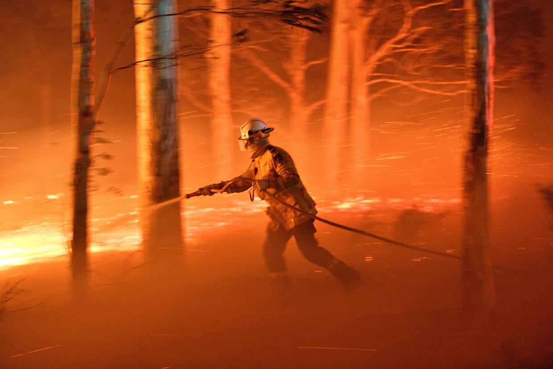 Brandweerman in New South Wales, december 2019.