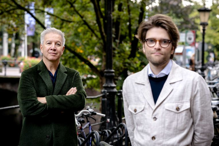 Producent Robert Oey (L) en regisseur Arjen Sinninghe Damste (R).  Beeld ANP