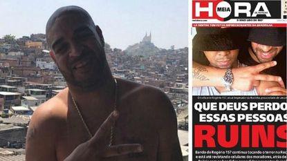 Te veel 'Narcos' gekeken? Braziliaanse spits die juiste pad kwijt is gefotografeerd met beruchte drugstrafikant