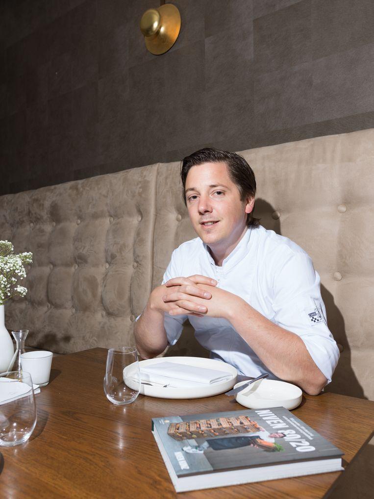 Chefkok Niven Kunz in zijn restaurant Niven in Rijswijk, dat nu failliet is verklaard. Beeld Ivo van der Bent