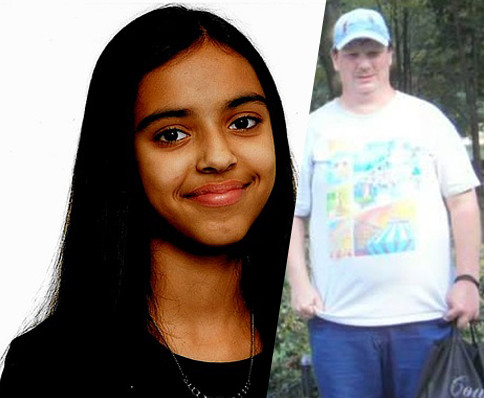 De vermiste Hania en de persoon die door de politie werd gezocht in verband met haar verdwijning.