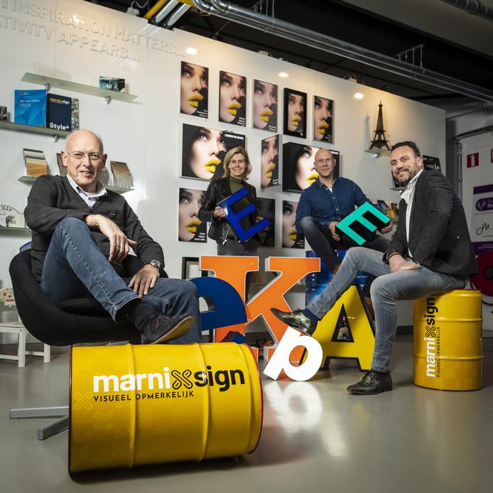 Van links naar rechts: Harm, Annemarie, Wouter en Marcel.