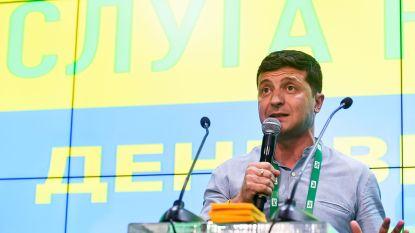 Absolute meerderheid voor partij van Oekraïense president Zelensky