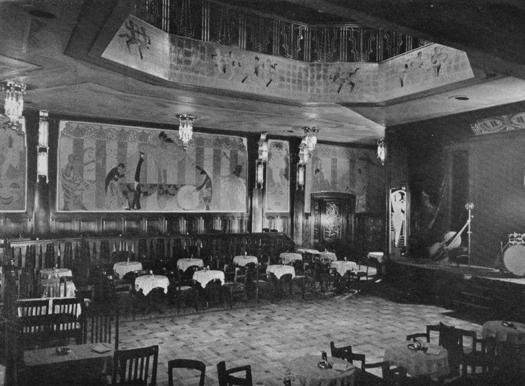 Het originele interieur van de zaal. Beeld Pathé Tuschinski