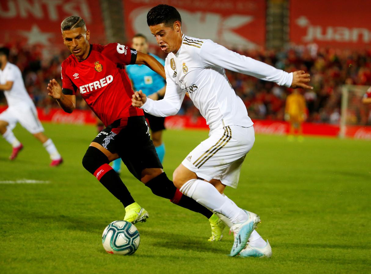 James Rodriguez vorige maand in actie tegen Real Mallorca.