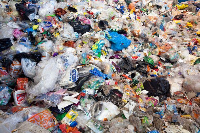 Een berg plastic afval, foto ter illustratie