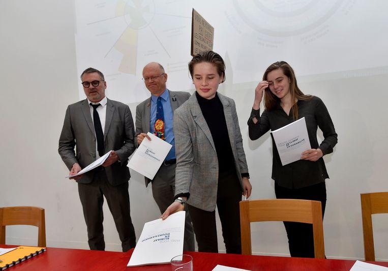Voorstelling van het rapport van het Panel voor Klimaat en Duurzaamheid, geleid door Leo Van Broeck en Jean-Pascal van Ypersele, samengebracht op vraag van Youth For Climate.