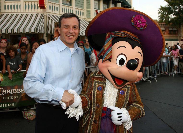Bob Iger vertrekt, maar is voorlopig nog niet weg bij Disney. Beeld Getty Images