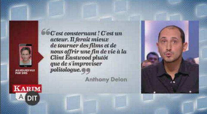 Pas simple d'être un Delon! Anthony a réagi aux propos de son paternel ce mercredi, dans le Grand Journal de Canal +.