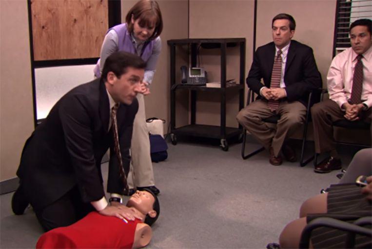 Steve Carrell als Michael Scott in The Office.