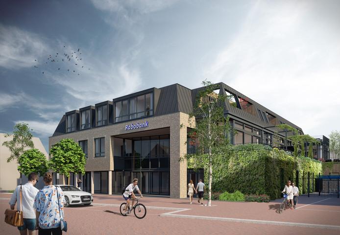 Een artist impression van appartementencomplex Hoogduynen, aan de Grotestraat in Drunen.