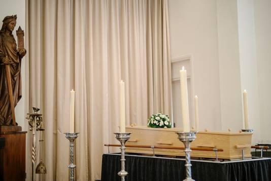 Beelden van de begrafenis.