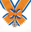 Onderscheiding Ridder Grootkruis in de Orde van Oranje-Nassau.