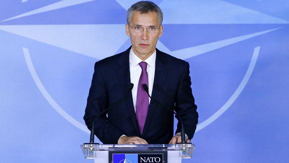 De ministers van Buitenlandse Zaken zitten voor het eerst samen met Stoltenberg.