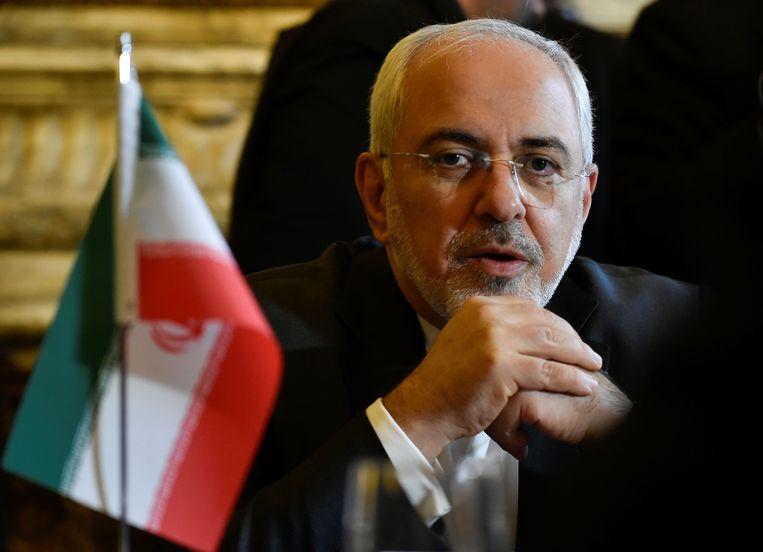 De Iraanse minister van Buitenlandse Zaken Javad Zarif Khonsari.