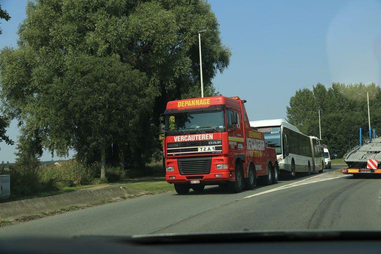Het ging om dezelfde bus die vorige week een kilometerslang mazoutspoor had veroorzaakt met verschillende ongevallen tot gevolg.