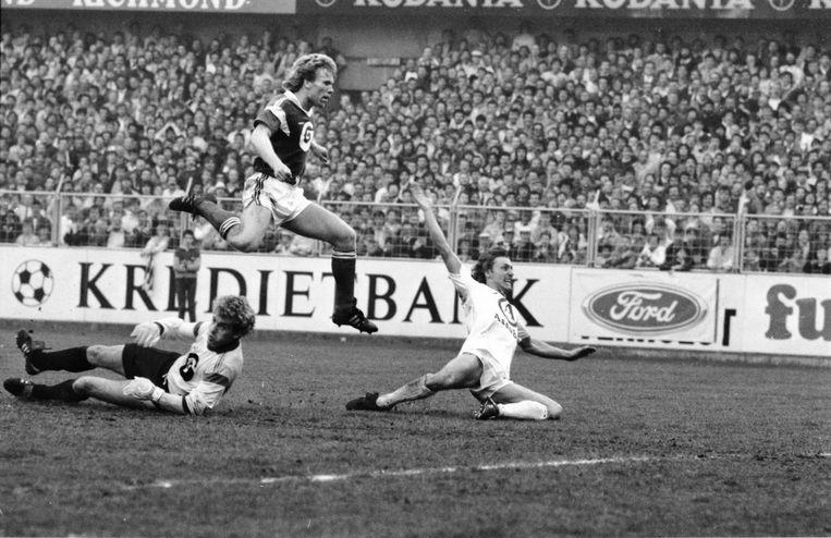 goalkeeper Jacky Munaron, Anderlecht's Henrik Andersen and Brugge's Willy Wellens
