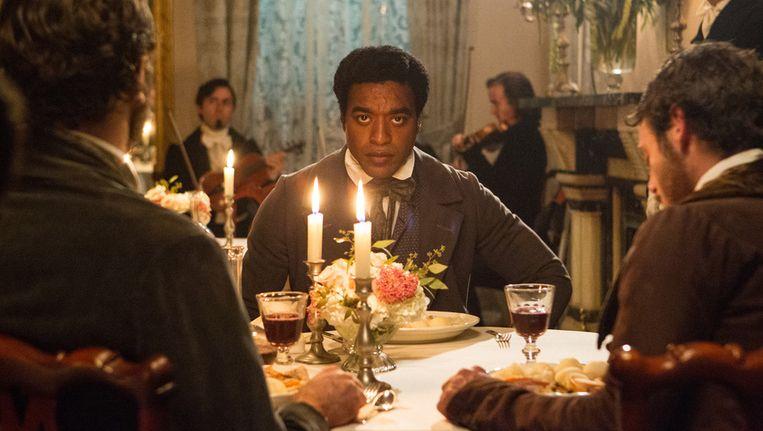 Acteur Chiwetel Ejiofor in de film 12 Years a Slave. Beeld ap