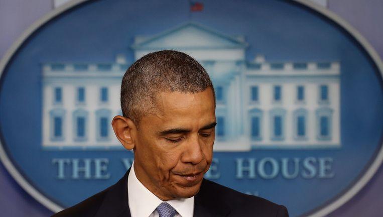 President Obama heeft de families zijn condoleances aangeboden. Beeld getty