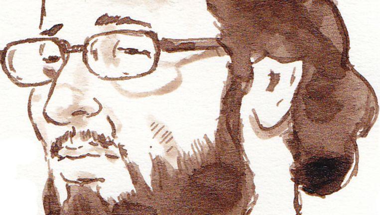 Rechtbanktekening van de verdachte Moussa L. Beeld ANP