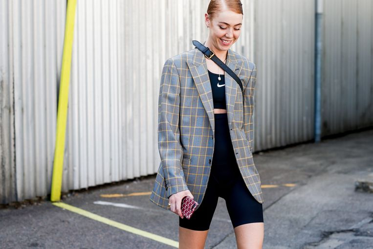 Een fashionista op de modeweek in Kopenhagen.
