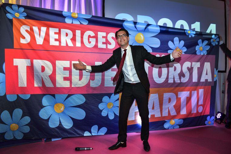 Partijleider Jimmie Åkesson van de Zweedse Democraten.
