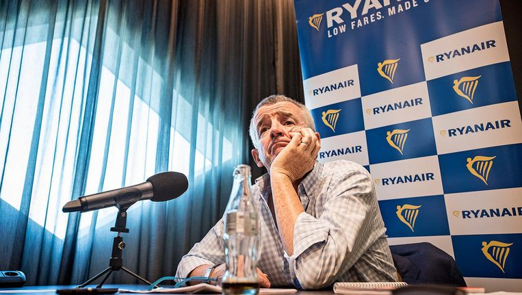 Michael O'Leary donderdag op Schiphol. De topman van Ryanair wil 'groei, groei en groei', maar Schiphol dwarsboomt zijn plannen, zegt hij. Beeld Guus Dubbelman / de Volkskrant